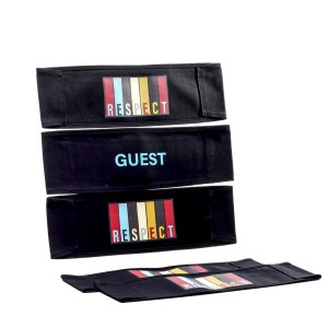 Lot #81 – Respect Production Used Guest Chairback Set