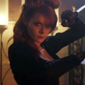 Lot #91 – Into The Badlands (2015-2019) The Widow Emily Beecham Screen Used Belt Knife W/ Holster & Sword Holster