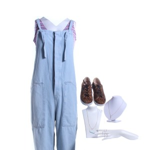 Lot #36 – Candyman Celine Sarah Wisterman Screen Worn Overalls Shirt Jewelry & Shoes Ch 1 Sc 81-82