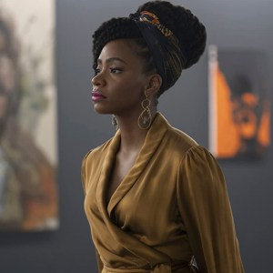 Lot #58 – Candyman Brianna Cartwright Teyonah Parris Publicity Dress Headscarf Jewelry & Shoes Ch 12 Sc 122-124