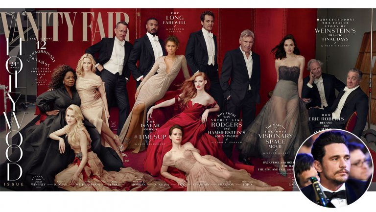 James Franco Was Scrubbed From Vanity Fair Hollywood Issue Cover