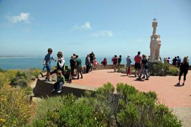 Checking out the harbor from Cabrillo Monument