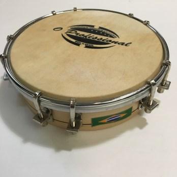 O Profissional 6″ wood tamborim with skin head