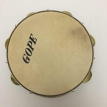 "Gope 10"" pandeiro, wood shell, skin head, rivets"