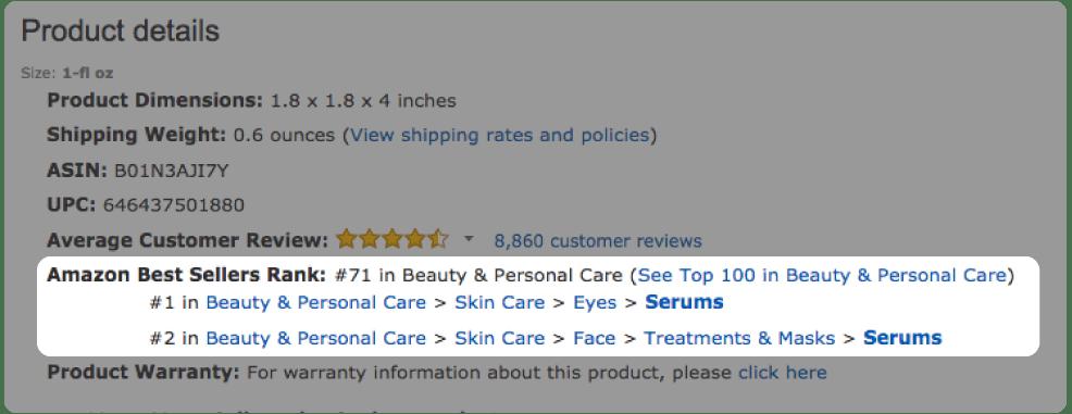 what is amazon best seller rank