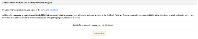 Enroll in Amazon Early Reviewer