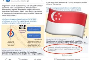 Facebook bowed to a Singapore government order to brand a news post as false – TechCrunch