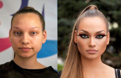 看完這32個化妝前後的強烈對比,你會信女星們都沒整容!