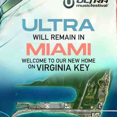 Ultra Music Festival Relocates to Virginia Key