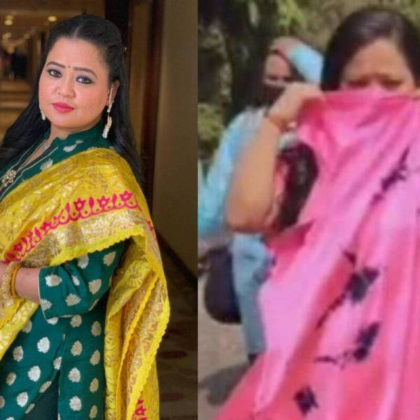 Bharti Singh scolds man for wearing mask funny video