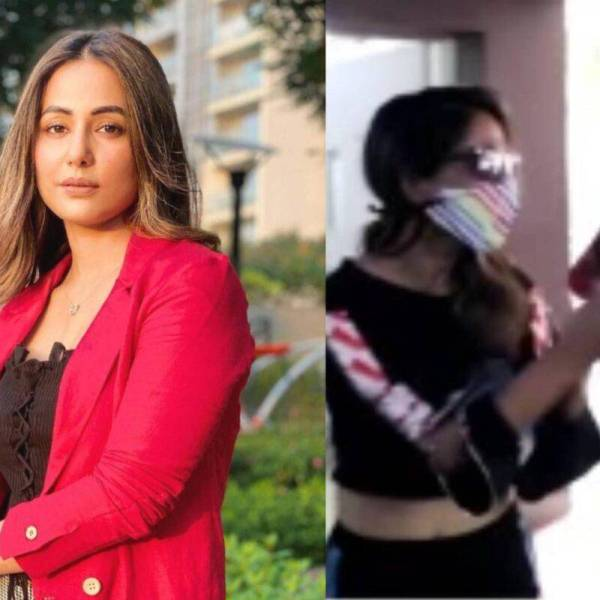 Hina Khan paps moment viral video runs away from paparazzi