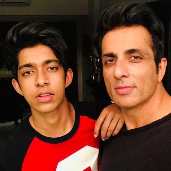 Sonu Sood with his elder son ishaant sood