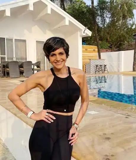 Mandira Bedi at her Madh Island Villa
