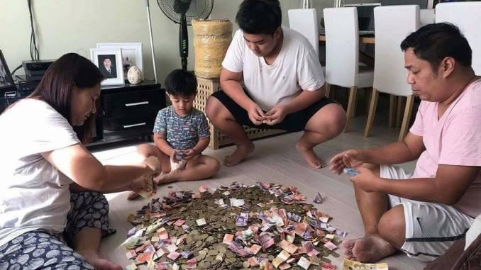 A family saves enough money for a Boracay getaway. [Image Credit: Peso Sense / Facebook]