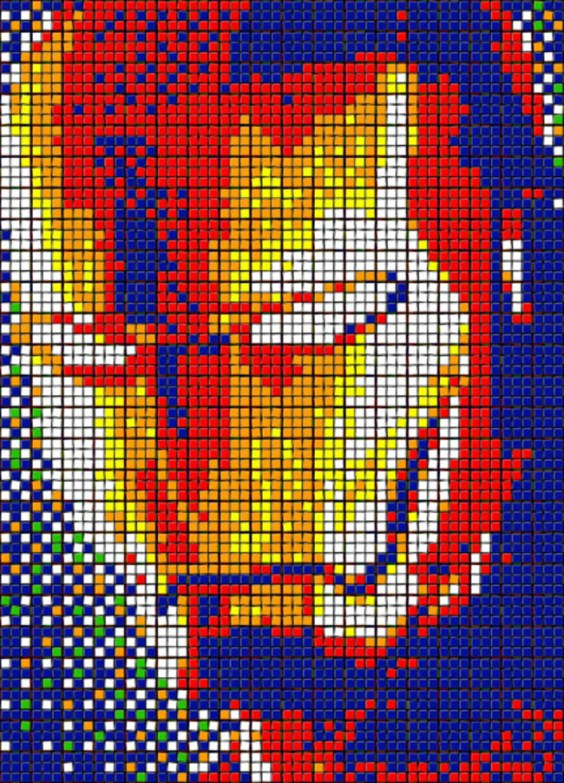 Rubik's Cube Art-9