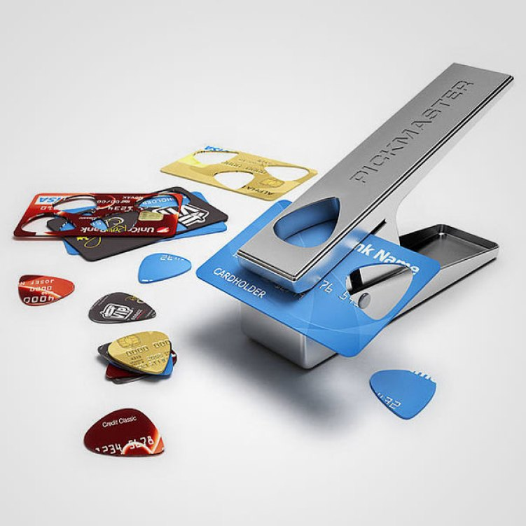 15. Credit Cards Cut Into Guitar Picks