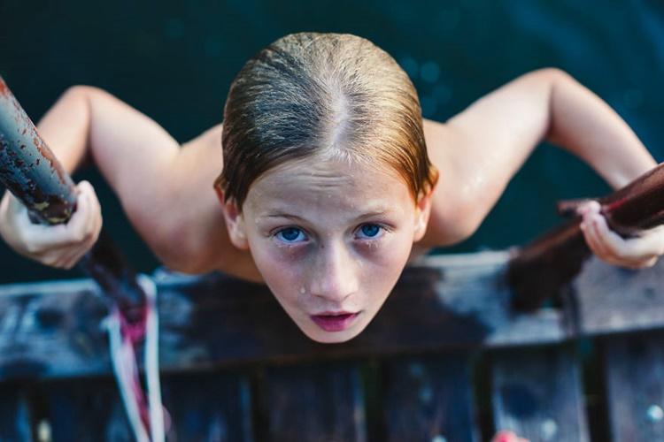 Wet Kid Close-up Shot