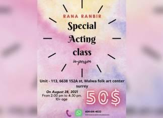 Acting Classes By Rana Ranbir