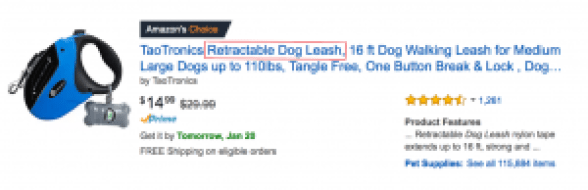 Amazon Dog Leash Search Result