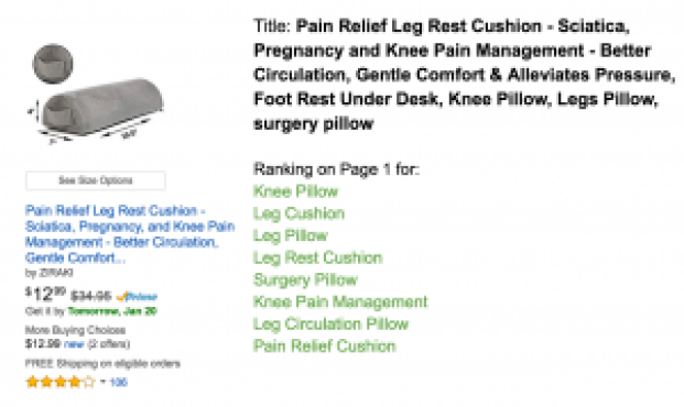 Knee Pillow Keywords