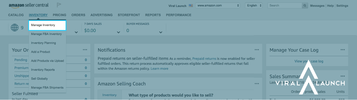 character limits manage inventory amazon seller central