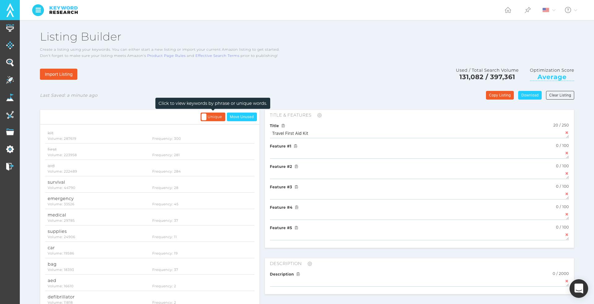 amazon seo amazon listing builder tool