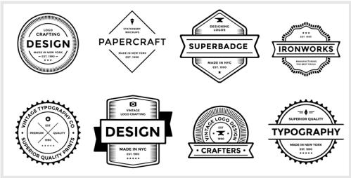Badge logo template, how to make a logo