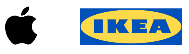 IKEA and Apple logos