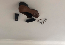 Son Starts Sticking One Of Dad's Things To The Ceiling Every Day, Sees How Far He Can Take It Before Dad Notices