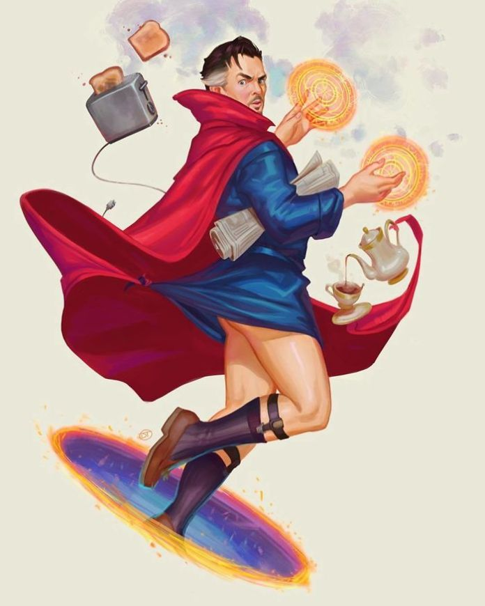 Artist Draws Male Superheroes As Pin-Up Models And The Prints Are Selling Out Fast