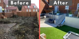 Landscapers Turn This Backyard Into An Amazing Lounge Area low maintenance backyard