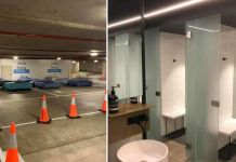 This Parking Lot orIs Turned Into A Safe Haven For The Homeless At Night Beddown