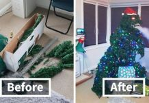 Guy Used Household Items To Build A Magnificent Smoke-Breathing Godzilla Christmas Tree