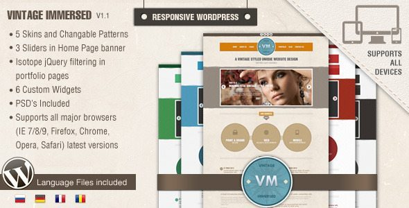 Vintage Immersed – Multipurpose WordPress Theme Review & Free Download