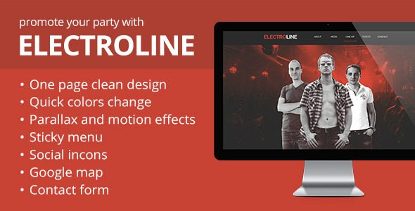 ElectroLine - Event Promo Muse Template free download
