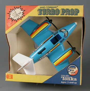 Fig 18. Hand Command Turbo Prop, 1989. This toy, designed by a retired US Navy engineer, is highly simplified into a schematic miniature. Courtesy of The Strong, Rochester, New York, USA.