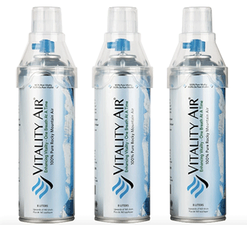 Fig 26. Cans of air bottled in Canada's Rocky Mountains. Vitality Air's initial inventory sold out immediately, due to demand from China. Vitality Air. Web. 7 July 2016.