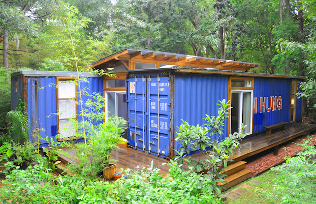 buitenkant container woning