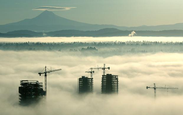Portland, een gebouw onder constructie