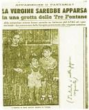 Uma das primeiras matérias publicadas em periódicos da época