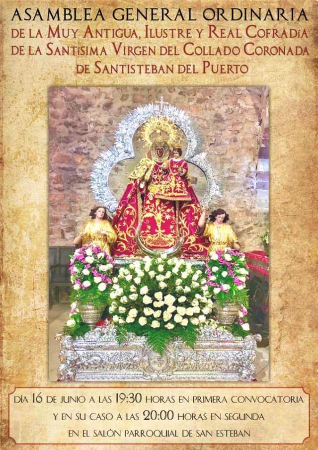 Asamblea General Ordinaria de la Muy Antigua, Ilustre y Real Cofradía de la Santisima Virgen del Collado Coronada de Santisteban del Puert