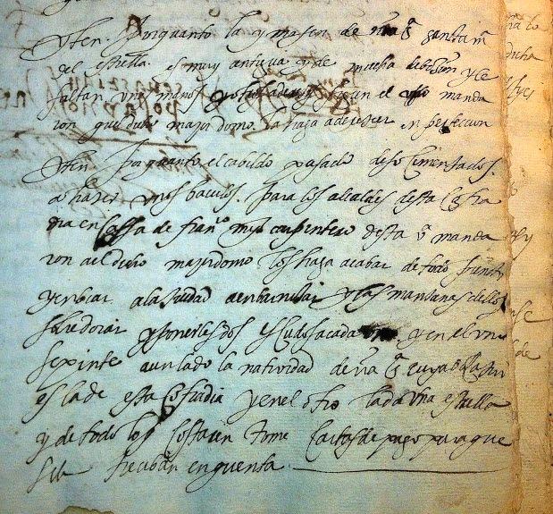 Cabildo 1590 Santisteban del Puerto