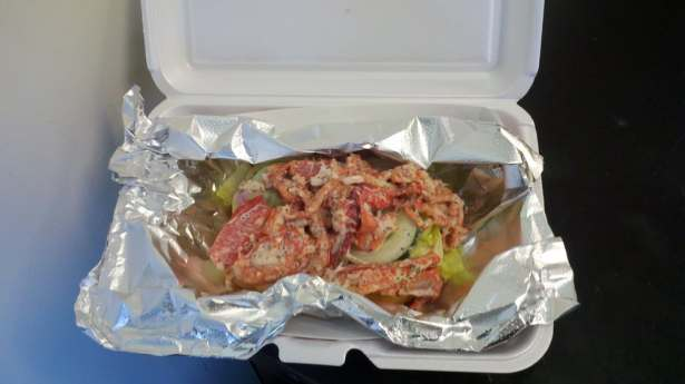 Photo of Lobster Roll from Doug the Food Dude. Courtesy of Yelp.com.
