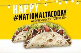 Image of California Tortilla National Taco Day. Courtesy of Facebook page.