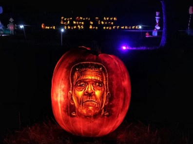 The Pumpkin Creation of Frankenstein