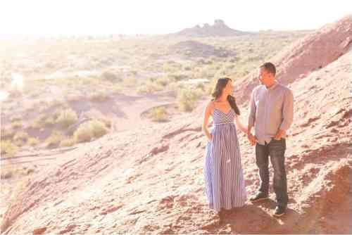 hole in rock arizona engagment photos