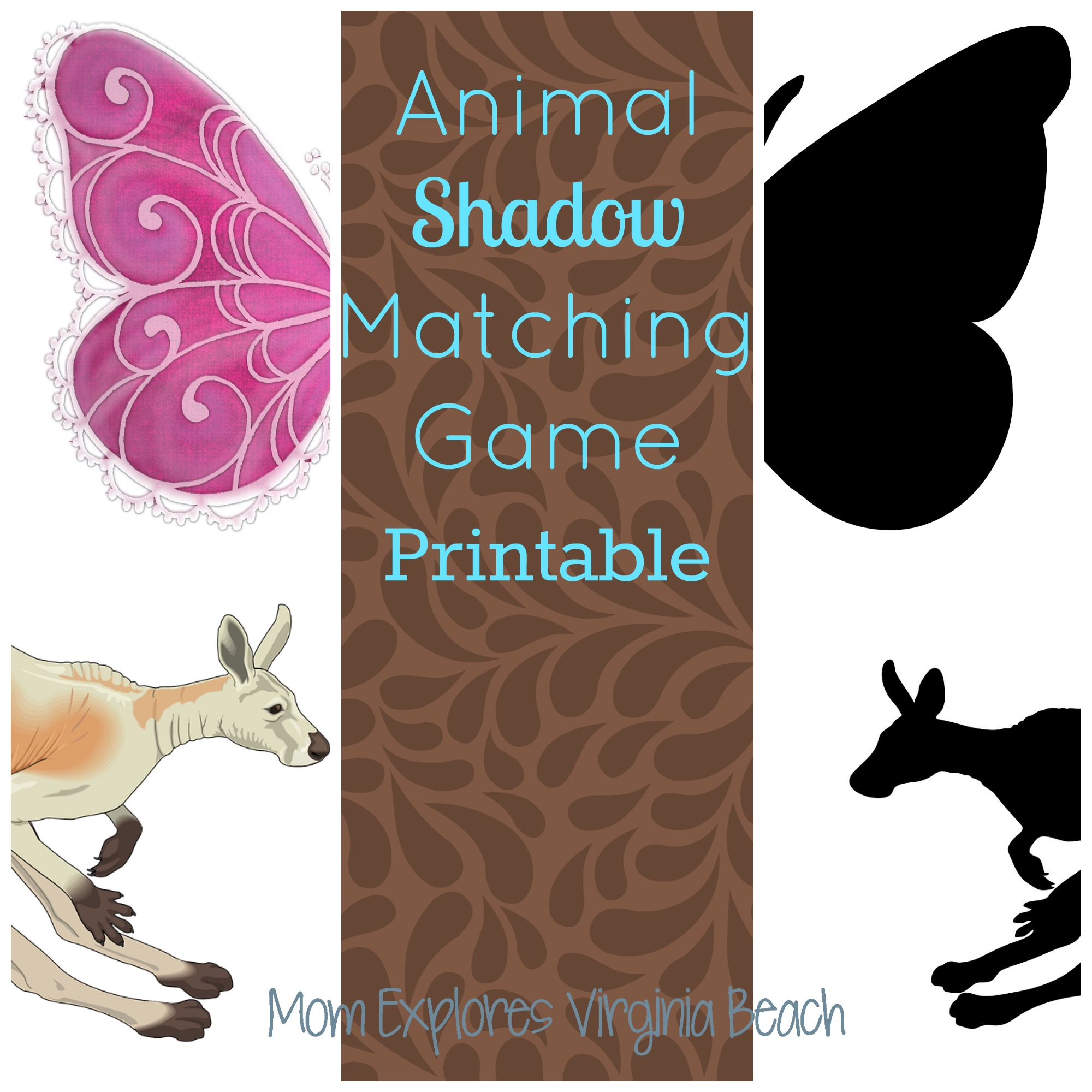 Animal Shadow Matching Game Printable