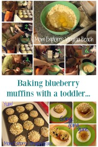 Baking Blueberry Muffins with a Toddler!