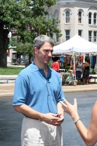 Attorney General Ken Cuccinelli speaks to the media