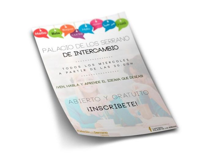 diseño flyer intercambio de idiomas